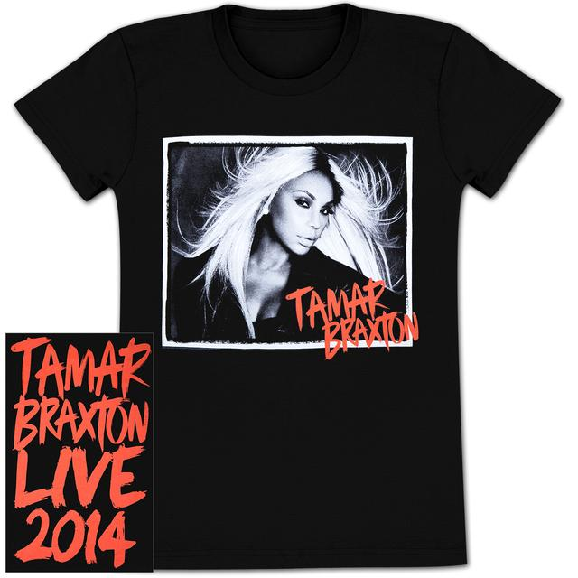 Tamar Braxton 2014 B&W Photo T-Shirt