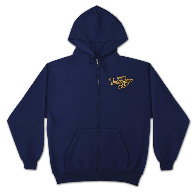 The Beach Boys 50th Zip-Up Hoodie on Navy