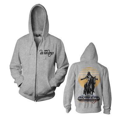 Beach Boys Logo Grey Zip Hoodie