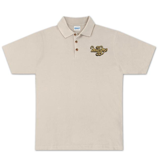 The Beach Boys 50th Polo Shirt on Natural