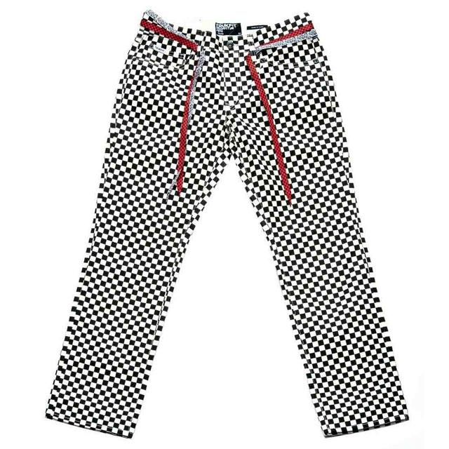 Young Money Trukfit Checkerboard Skinny Fit Denim Jeans
