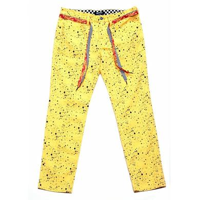 Young Money Trukfit Speckle Printed Jeans Gold Fusion