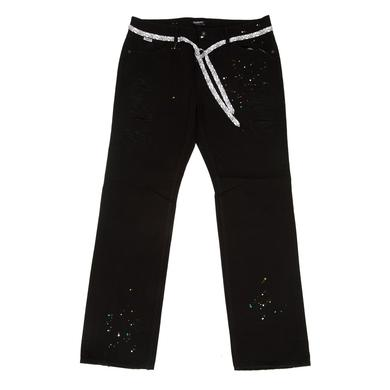 Young Money Trukfit D Splatter Slim Straight Jeans