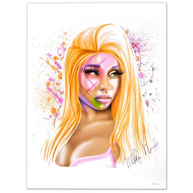 "Young Money Nicki Minaj Autographed ""Airbrush"" Lithograph"