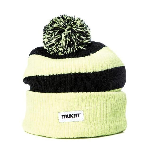 Young Money Trukfit Sharp Green Stripe Pom Pom Hat