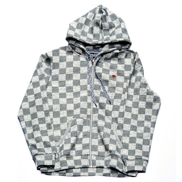 Young Money Trukfit Checker Full Zip Hoodie – Gunmetal Heather