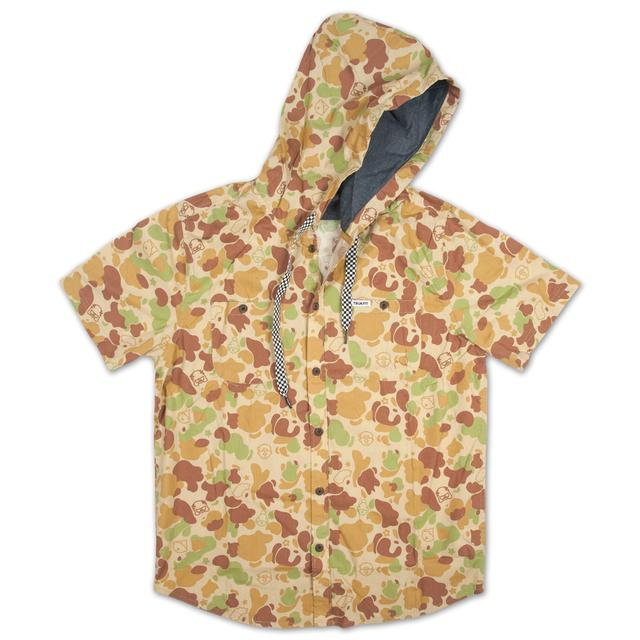 Young Money Trukfit Sand Camo Hooded Woven Shirt