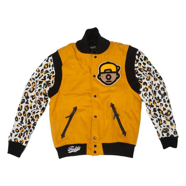 Young Money Trukfit Cheetah Varsity Jacket