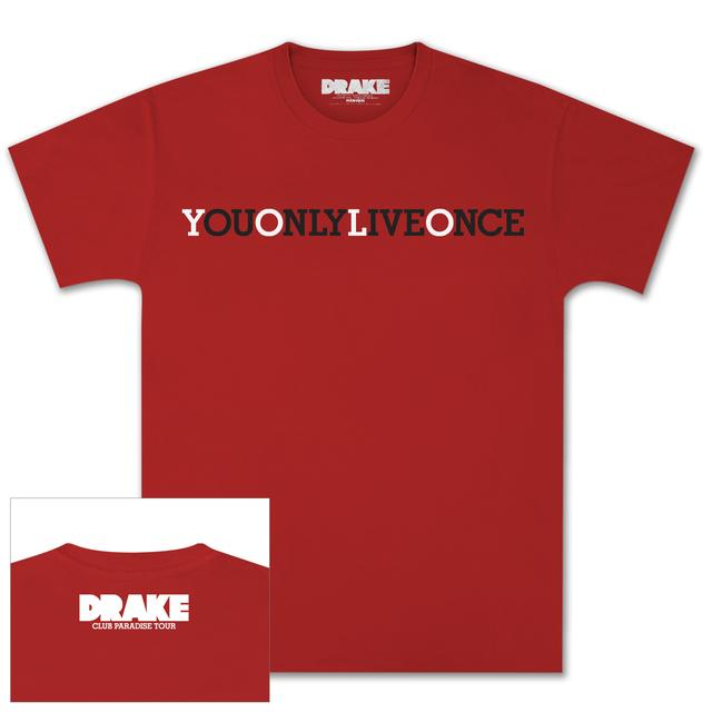 Drake Red YOLO T-Shirt