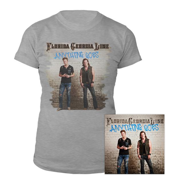 Florida Georgia Line Anything Goes Women's Tee & CD Bundle