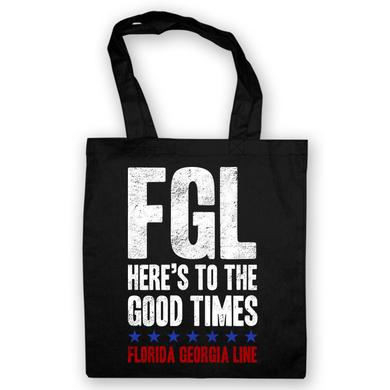 Florida Georgia Line Here's To the Good Times Black Tote Bag