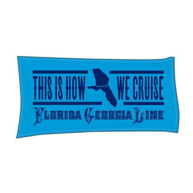 """Florida Georgia Line """"How We Cruise"""" Towel"""