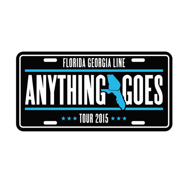 Florida Georgia Line Anything Goes License Plate