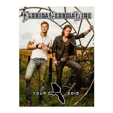 Florida Georgia Line Tour 2015 Farmland Poster