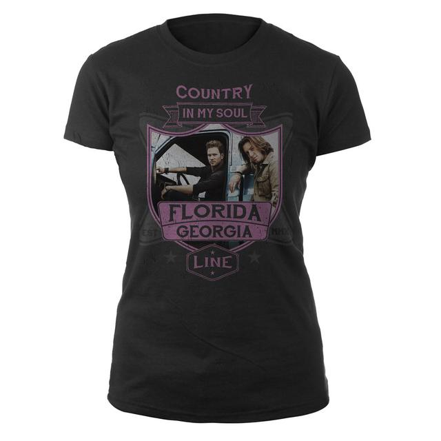Florida Georgia Line Country in My Soul Ladies Tee
