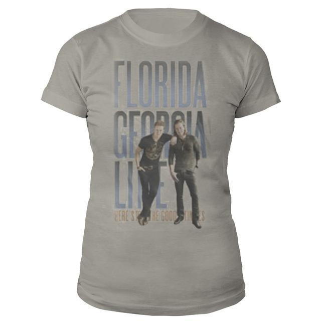 Florida Georgia Line Leaning Logo Natural Jrs Tee