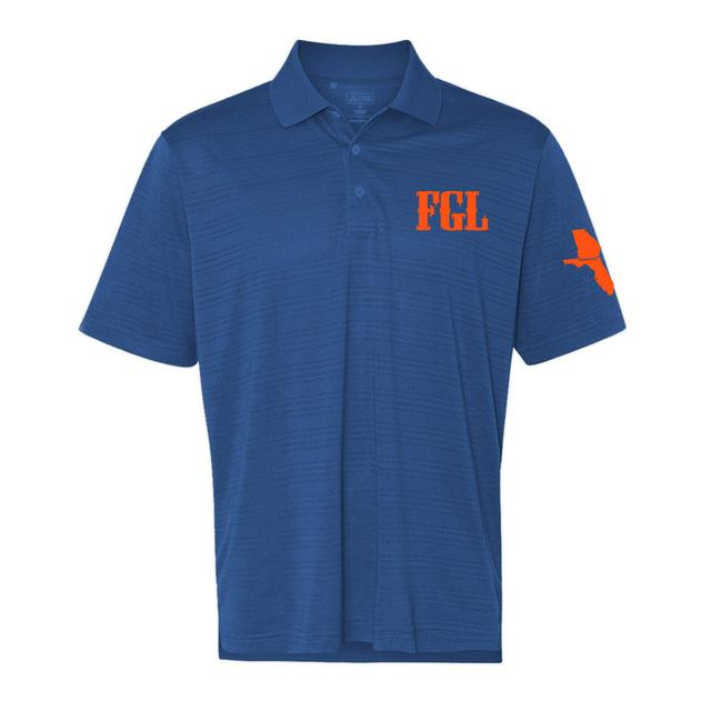 Florida Georgia Line Blue FGL Golf Shirt