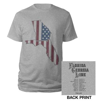 Florida Georgia Line Stars and Stripes States Tour Tee