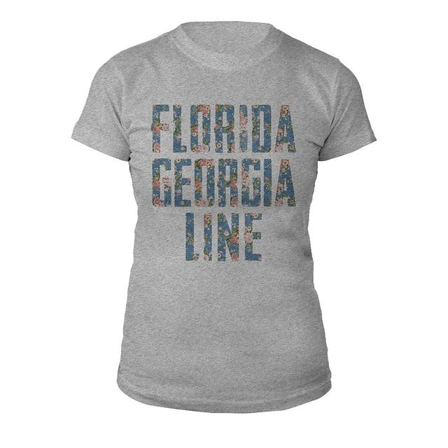 Florida Georgia Line Floral Logo Ladies Tee