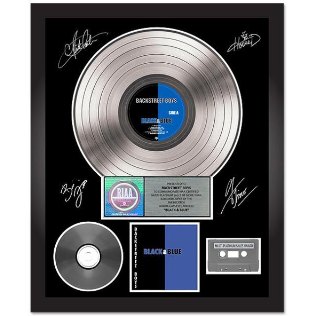 Backstreet Boys Black & Blue Autographed Platinum Album