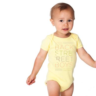 Backstreet Boys BSB Type Lines Onesie