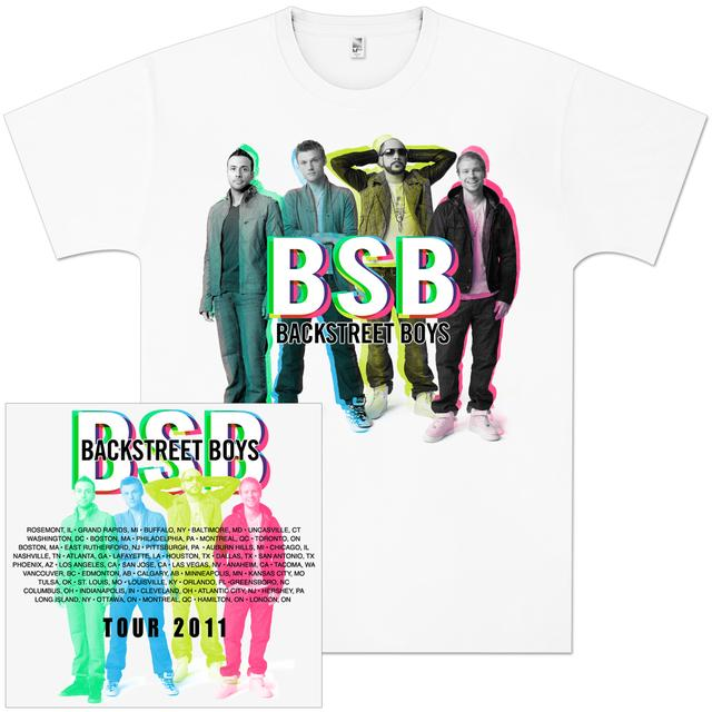 Backstreet Boys Pop Color Shadows T-Shirt