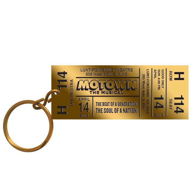 Motown The Musical Brass Ticket Keychain