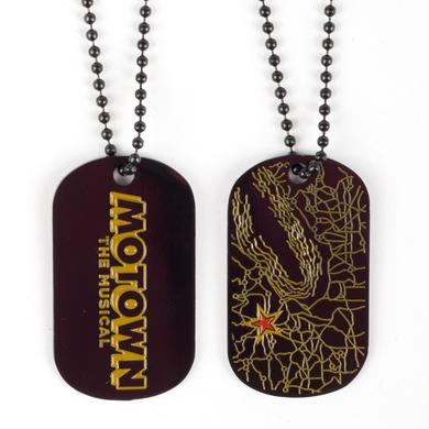 Motown The Musical Record Dog Tag w/ Chain