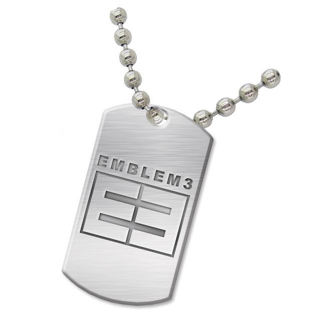 Emblem3 Logo Dog Tag Necklace