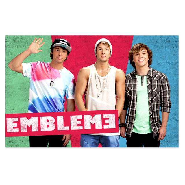 Emblem3 Colorblock Group Photo Poster