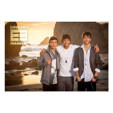Emblem3 Beach Photo  Tour Poster