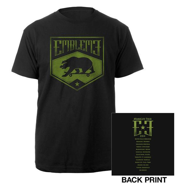 Emblem3 Skateboard Bear US Tour Tee