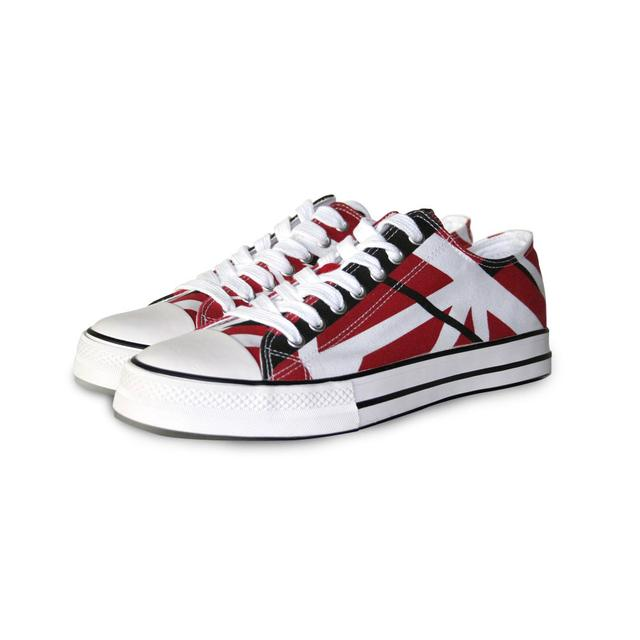 Eddie Van Halen Red/Black/White Stripe Low Top Sneakers