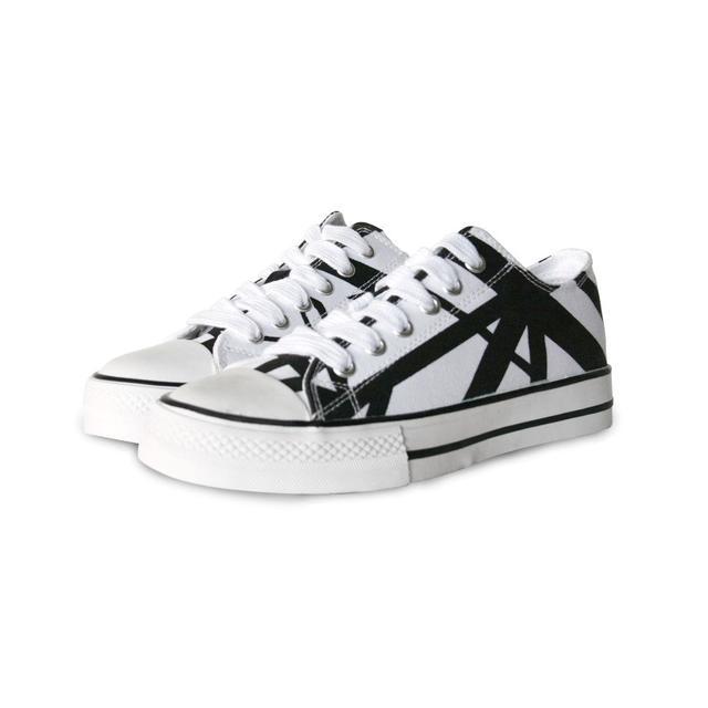 Eddie Van Halen White Body/Black Stripe Low Top Sneakers