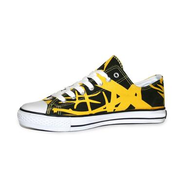 Eddie Van Halen Yellow Stripe Low Top Sneakers