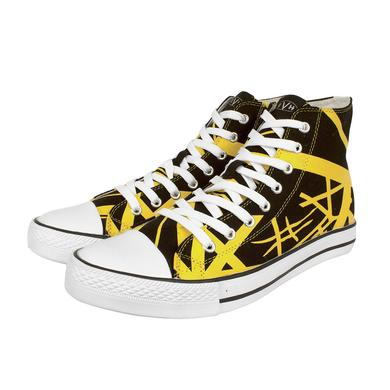 Eddie Van Halen Yellow Stripe High Top Sneakers
