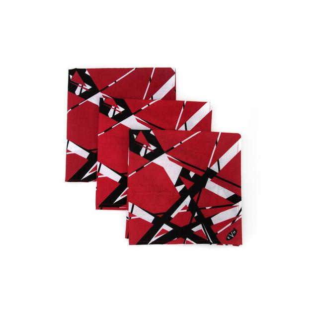 "Eddie Van Halen ""Classic Stripes"" Red/Black/White Bandana"