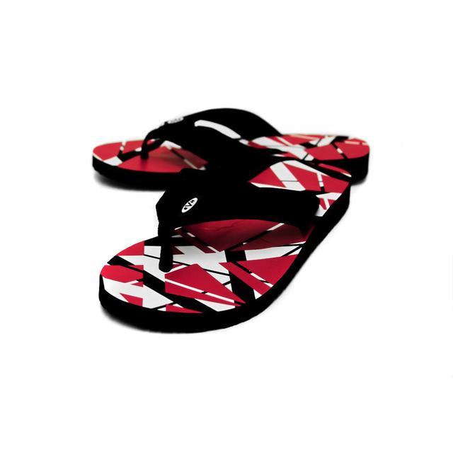 Eddie Van Halen Red Flip Flops