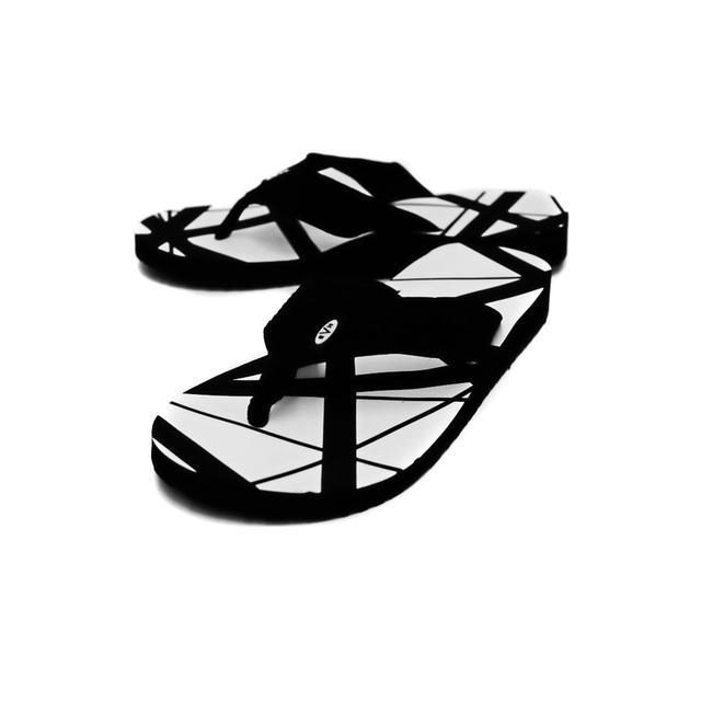 Eddie Van Halen White Flip Flops