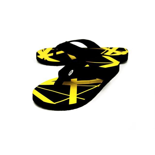 Eddie Van Halen Yellow Flip Flops