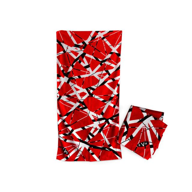 Eddie Van Halen Red/Black/White Stripe Towel