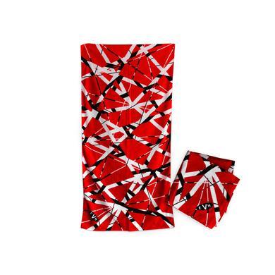 Eddie Van Halen Red/Black/White Stripe Towel