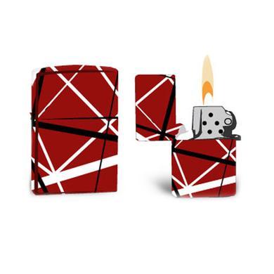 Eddie Van Halen Red/Black/White Striped Lighter