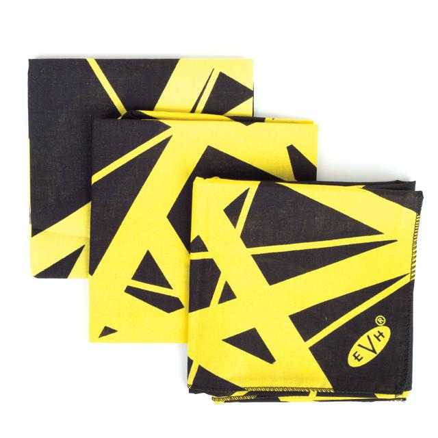 "Eddie Van Halen ""Classic Stripes"" Black/Yellow Bandana"