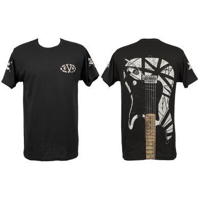 Eddie Van Halen White Stripe Guitar Tee