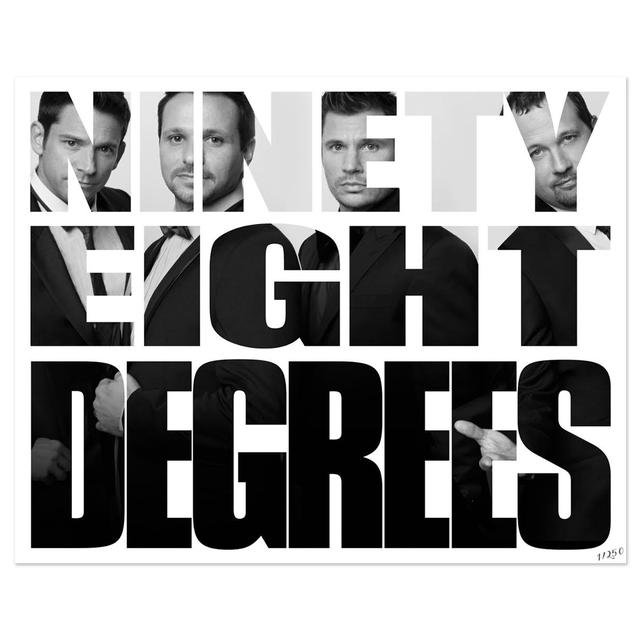 98 Degrees Photo Text Poster