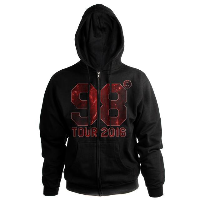 98 Degrees Fire Logo Tour 2016 Zip Hoodie