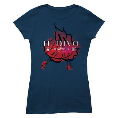 Il Divo Foil Dancer/Logo Navy Women's T-shirt