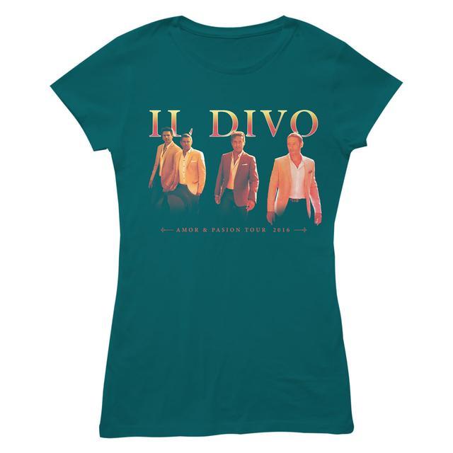 Il Divo Walking Photo Blue Women's T-shirt