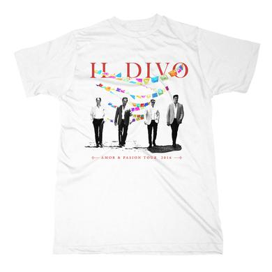 Il Divo Bunting/US Tour 2016 White T-shirt